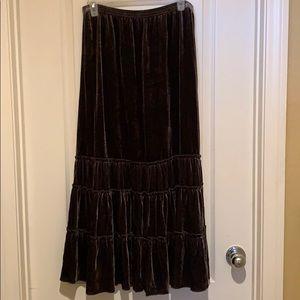 Sz 1 Brown Women's Chico's long skirt NWT